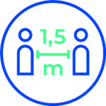 International Pictogram For Keeping A Distance Of 1,5 Meters