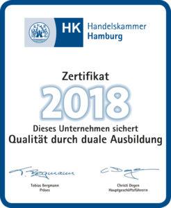 IHK-Duales Ausbildungszertifikat2018