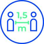 Corona Piktogram Abstand Halten 1,5 Meter